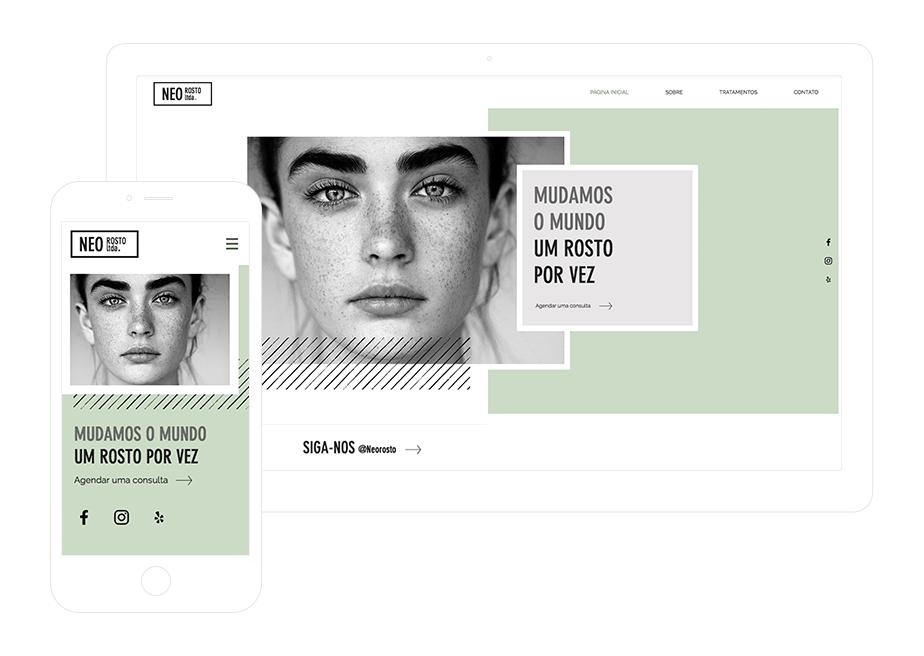 Template Wix para Site de Salão de Beleza