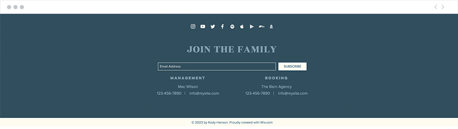 How to create a one page website: rich footer