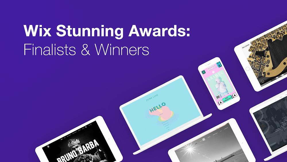 wix stunning awards winners