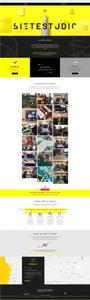 8 Site Wix Incríveis com um Toque de Criatividade Latina: Siete Studio