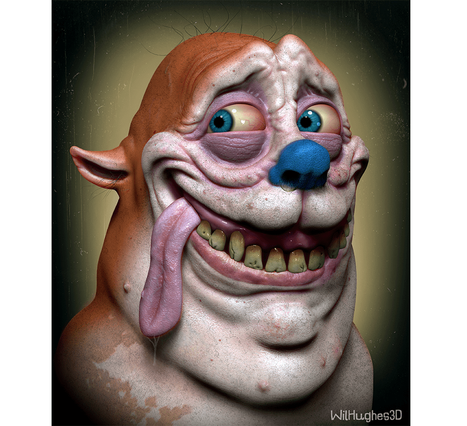 "Horror Version of ""Stimpy"" J. Cat by Wix User Wil Hughes"