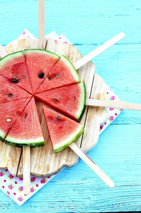 Watermelon pops for labor day picnic desserts