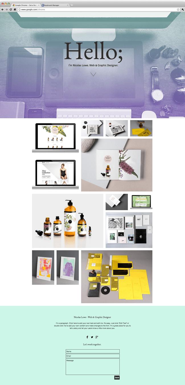 Wix - Portfólio de Designer Gráfico