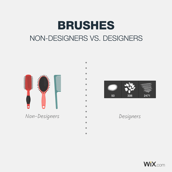 graphic design jokes about what a brush is