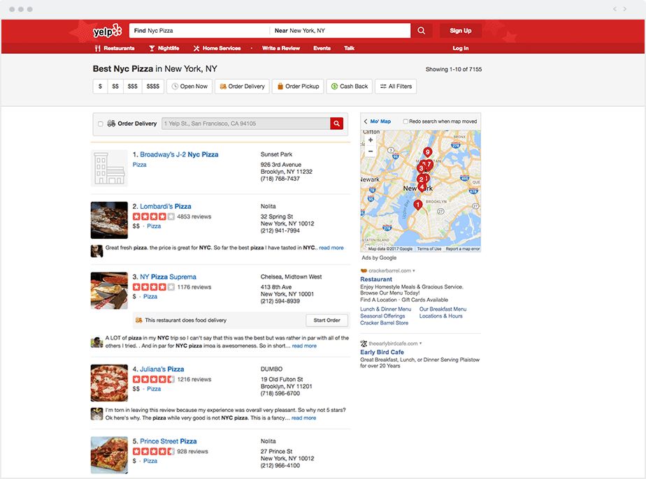 Local directories - Yelp