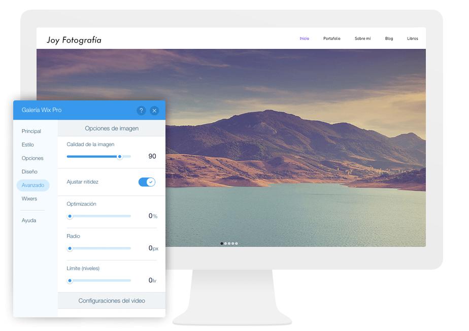 Galería Wix Pro - la mejor solución para optimizar imágenes