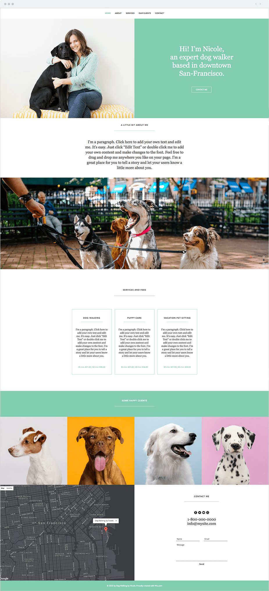 Wix Templates: Dog Walker