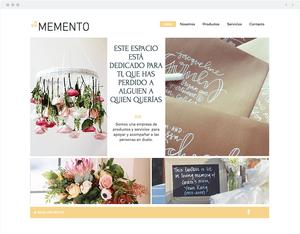 8 Site Wix Incríveis com um Toque de Criatividade Latina: Memento