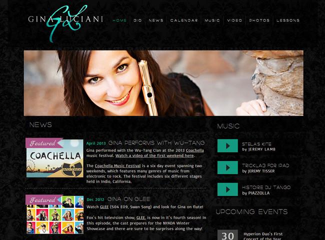 Gina LucianiさんのWixサイト