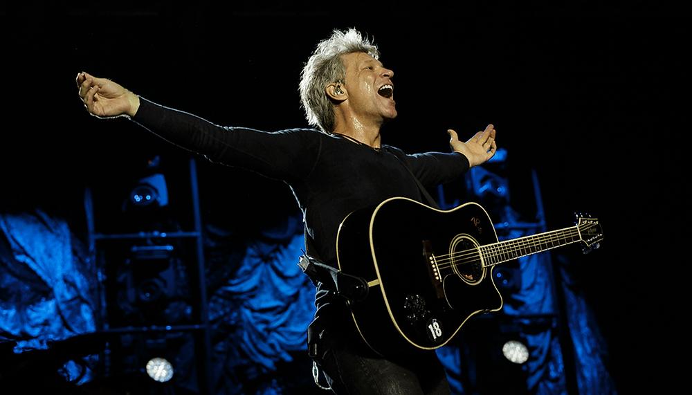 Bon Jovi rocking the stage