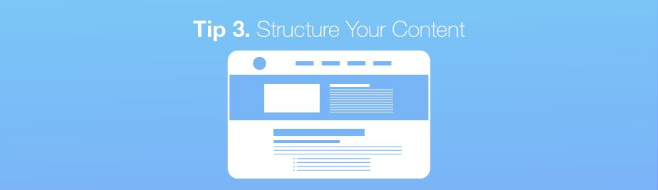 Voice search tip: structure your content