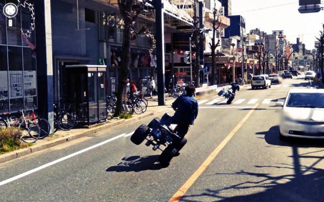 Weird Google Street View: ATV 2 Wheel Drive