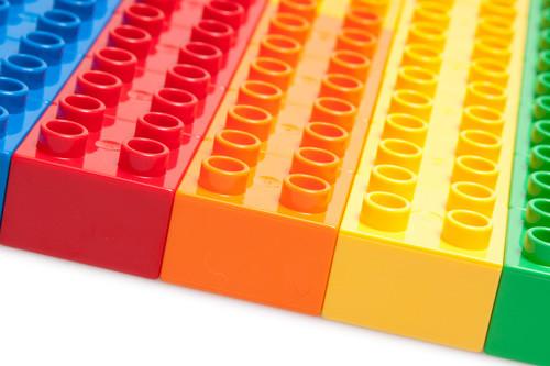 vários blocos coloridos