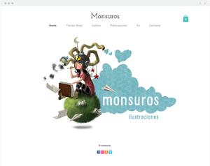 8 Site Wix Incríveis com um Toque de Criatividade Latina: Monsuros