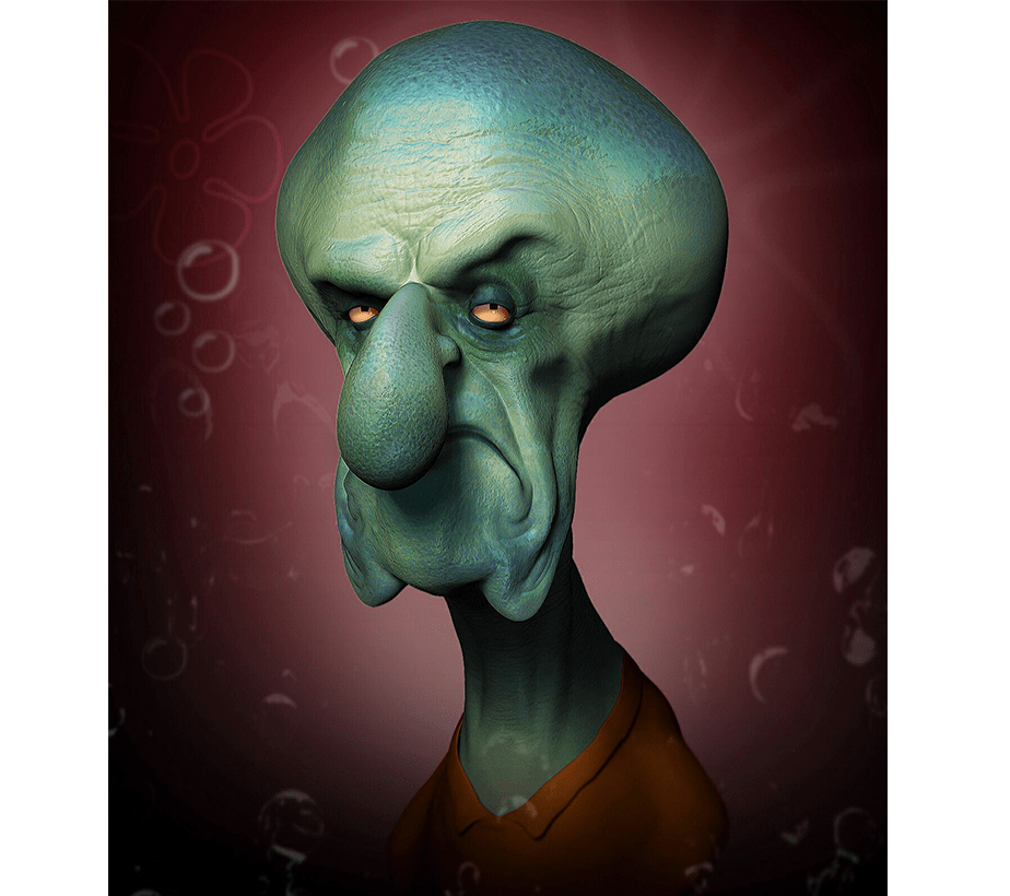 Horror Version of Squidward Tentacles by Wix User Wil Hughes
