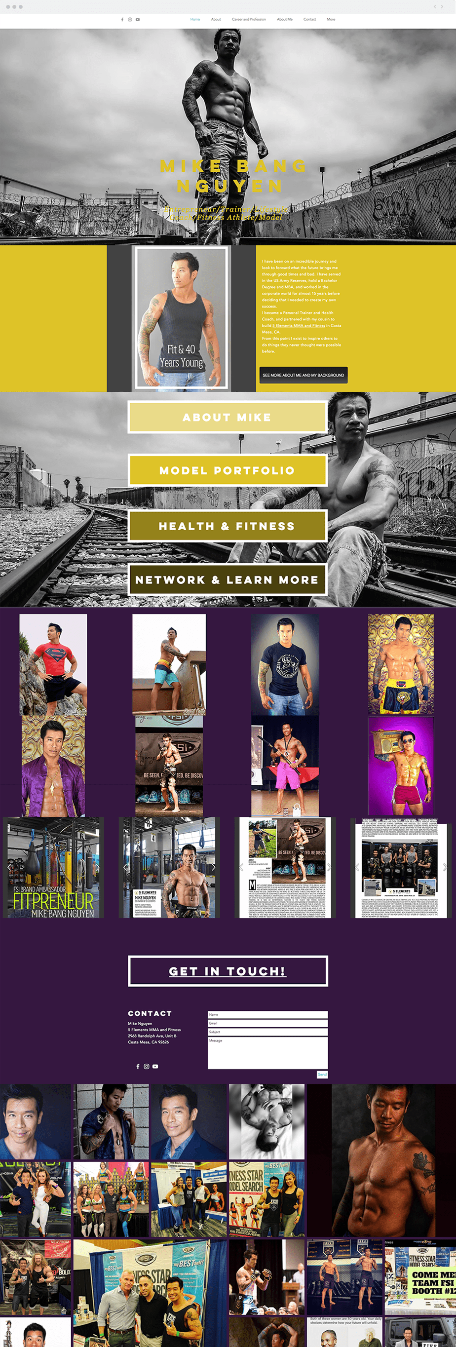 Site Wix do Modelo mike Bang Nguyen