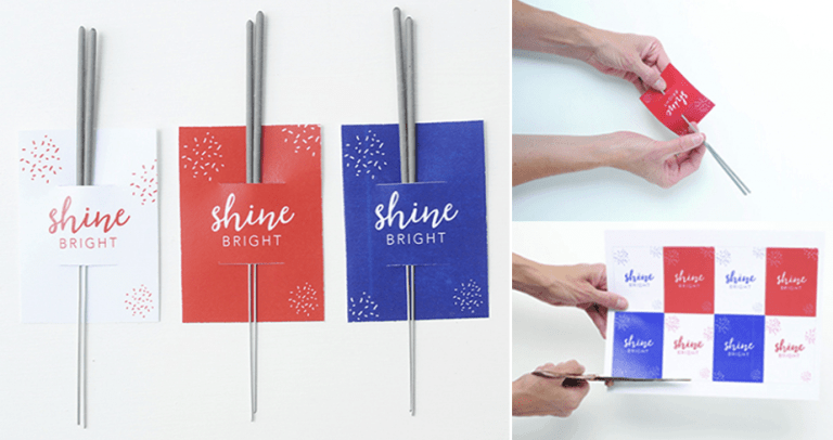 4th of July Sparkler Sleeves