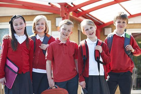 primary school children smiling
