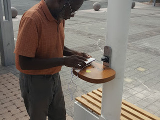 Smart Solar Street Light with Mobile Device Charging Capacity