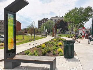 First Smart Solar Bench in New York State