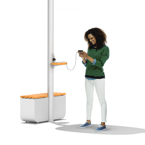 Solar Street Light with Mobile Device Charging Capacity station