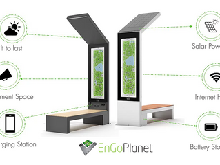 New urban device: Smart Solar powered bench