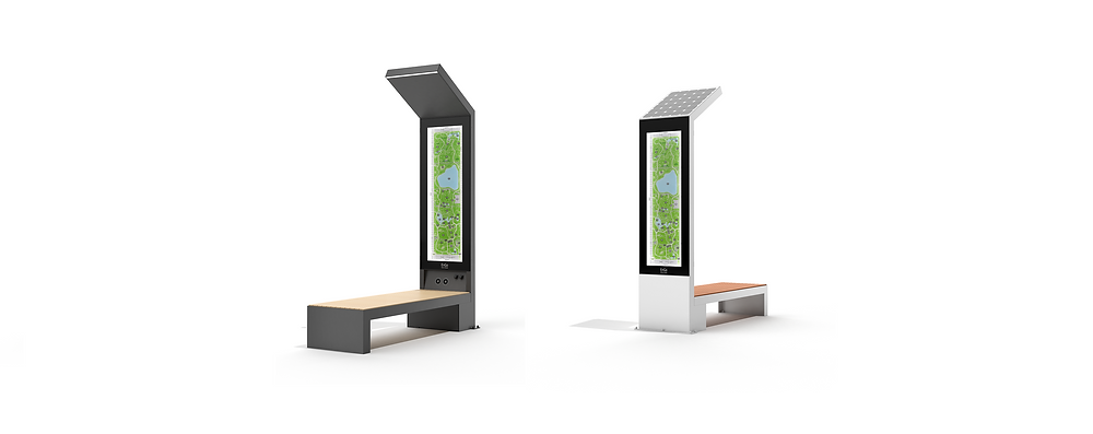 smart solar powered bench cost