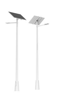 solar operated street light battery inside pole