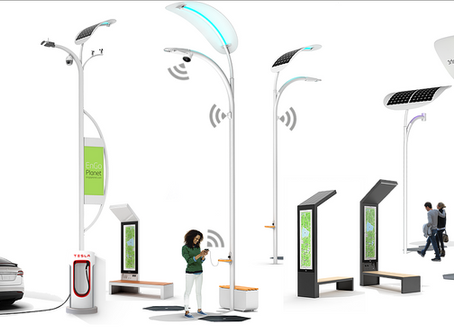 Smart Solar Street Lights and Smart Benches at Viva Tech and EXPO Astana