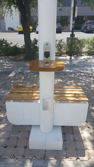 solar street light charging station led