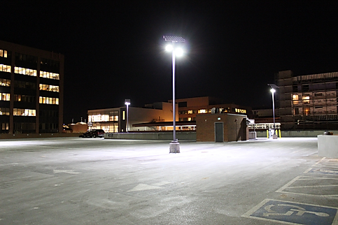 solar street light for parking lot