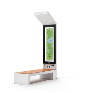 smart solar powered bench