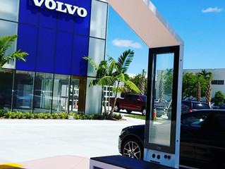 Volvo got it's first Smart Solar powered benches