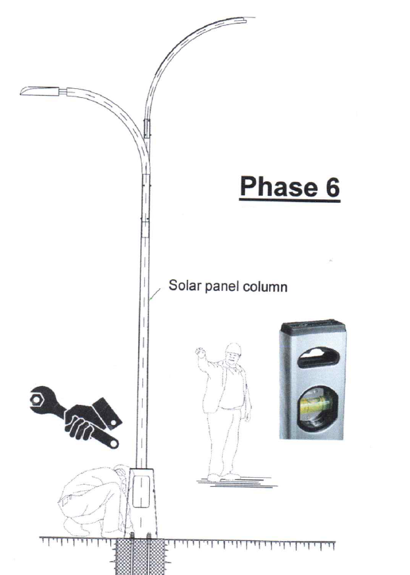 smart solar street light installation