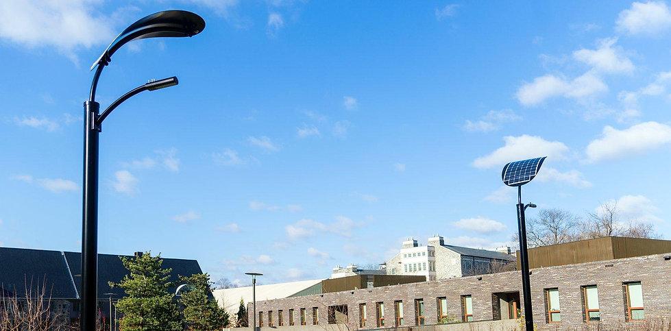 solar powered street lights university