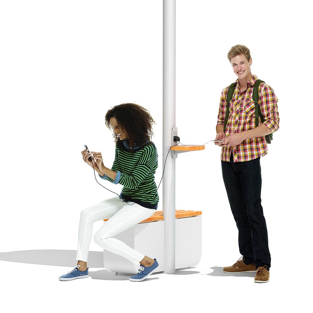 smart solar powered pole