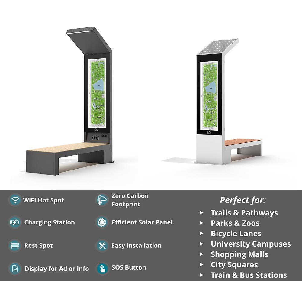 smart solar bench