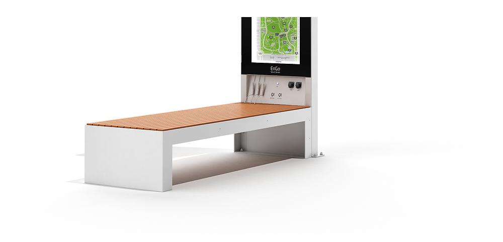 smart solar benches