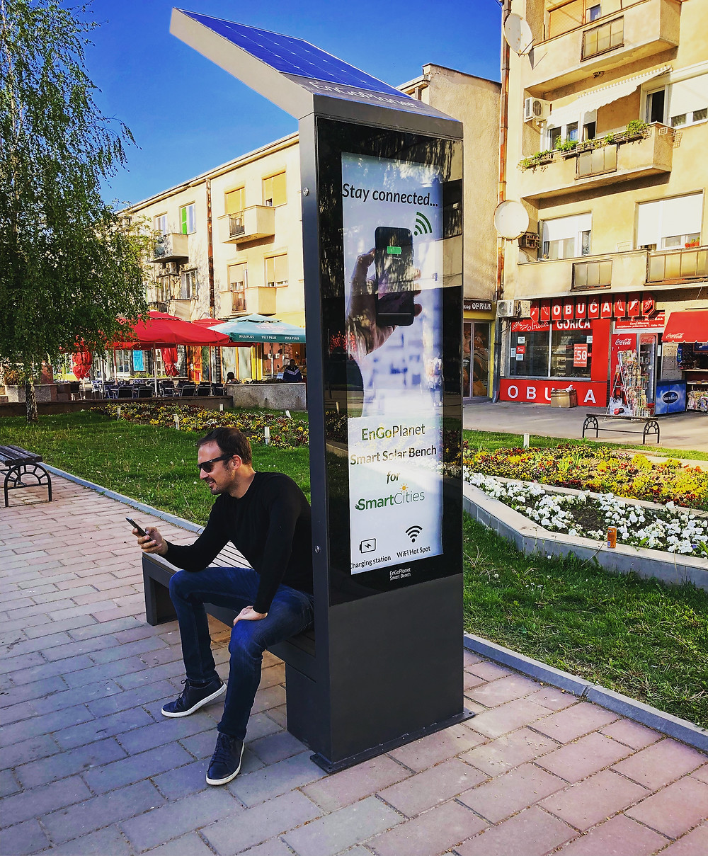smart solar street bench battery lifepo4