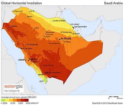 Saudi Arabia And Solar Energy Smart Solar Led Street Lights And - Solar map us