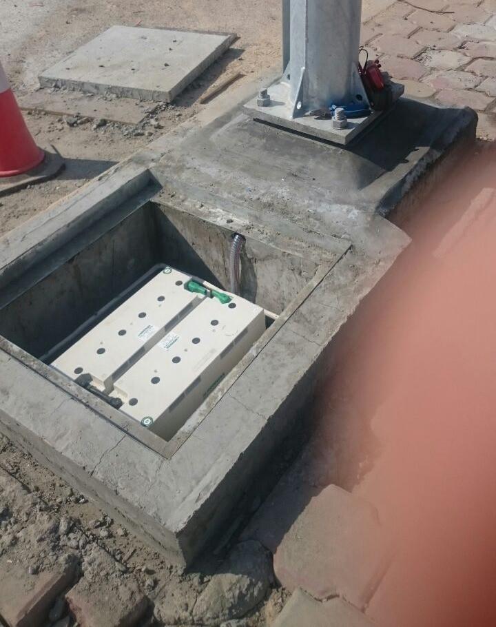 kuwait solar street lights battery