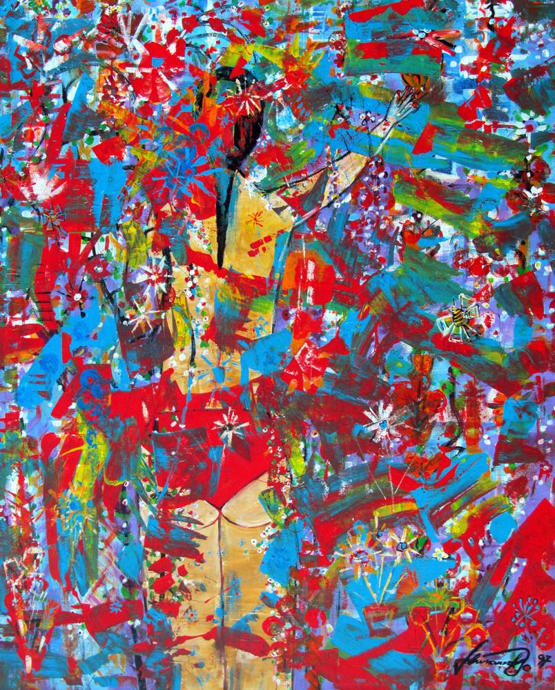 """""""ROSE IN FLOWER GARDEN""""- 1997"""