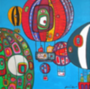Balloon-Race-1995-Acylic-48x48''(122x122