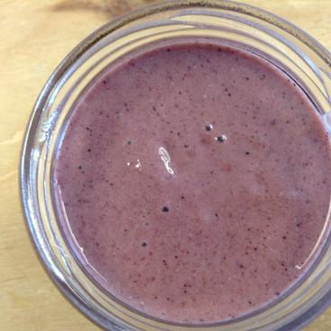 Licuado blueberries y cacao