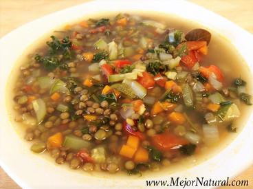 Sopa de Lenteja y Chícharo