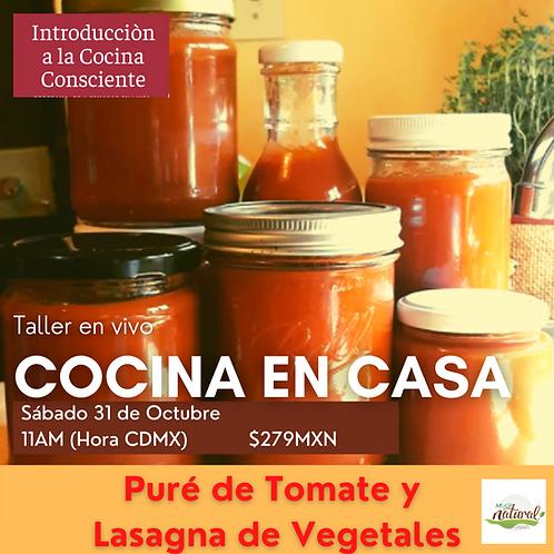 Taller COCINA EN CASA - Puré de tomate/Lasagna