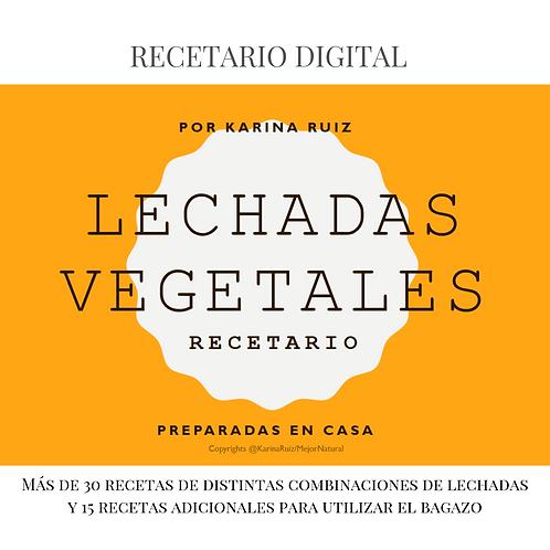 Recetario Lechadas Vegetales