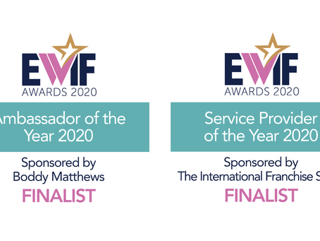 CEO Suzie McCafferty is a finalist for not just one, but two EWIF 2020 Awards!