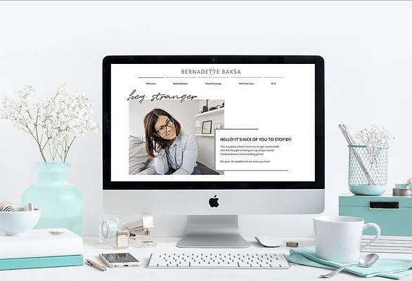 Website Design and Strategy Mockup