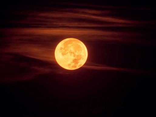 Super Full Moon in Sagittarius Lunar Eclipse